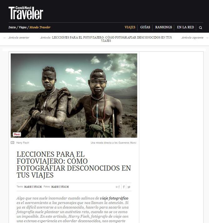 Fotografiar un Desconocido en Traveler Magazine
