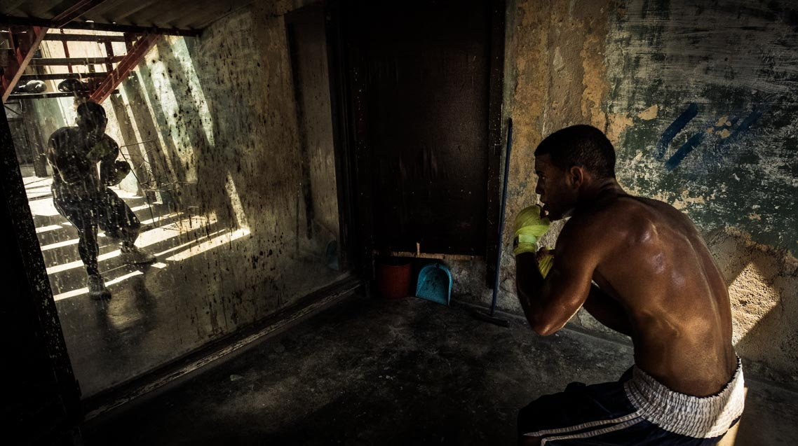 Boxeador en La Habana
